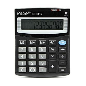 Kalkulačka Rebell, RE-SDC412 BX, černá, stolní, dvanáctimístná