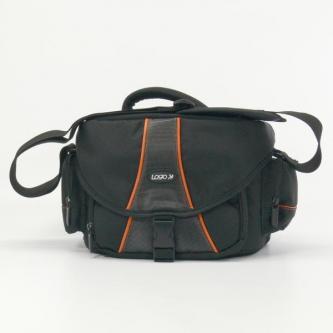 Taška na kameru, nylon, černá, PROFESSIONAL, suchý zip, 36 x 21 x 18 s popruhem přes rameno, Logo