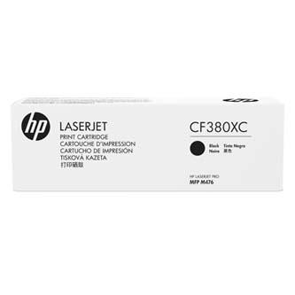 HP originální toner CF380XC, black, 4400str., 312X, HP Color LaserJet Pro MFP M476dn, MFP M476dw, MFP M47, 720g