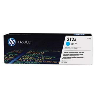 HP originální toner CF381A, cyan, 2700str., 312A, HP Color LaserJet Pro MFP M476dn, MFP M476dw, MFP M47, 720g