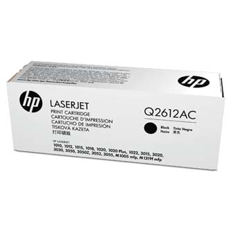 HP originální toner Q2612A, black, 2000str., 12A, HP LaserJet 1010, 1012, 1015, 1020, 1022, 3015, 3020