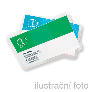 GBC BUSINESS CARD, 250 (2x125) µm, 60x91mm, lesklé