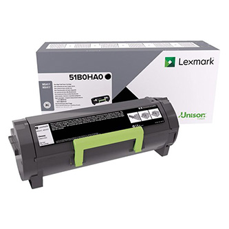 Lexmark originální toner 51B0HA0, black, 8500str., high capacity, Lexmark MS417dn, MX417de