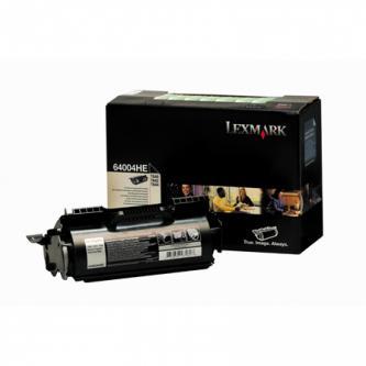 Tonerová cartridge Lexmark T640, T642, T644, black, 64004HE, 21000s, return, vhodná pro potisk etiket, O