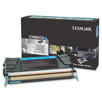 Tonerová cartridge Lexmark C746DN, C746DTN, C746N, C748DE, C748DTE, C748E, cyan, C746A1CG, 70000s, return, O