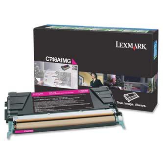 Tonerová cartridge Lexmark C746DN, C746DTN, C746N, C748DE, C748DTE, C748E, magenta, C746A1MG, 70000s, return, O