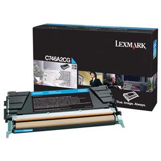 Tonerová cartridge Lexmark C746DN, C746DTN, C746N, C748DE, C748DTE, C748E, cyan, C746A2CG, 70000s, O