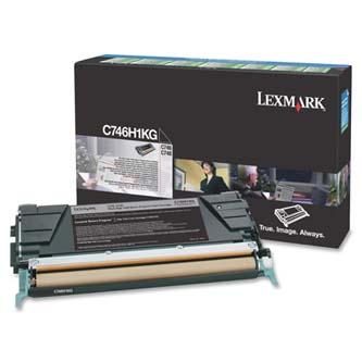 Tonerová cartridge Lexmark C746DN, C746DTN, C746N, C748DE, C748DTE, C748E, black, C746H1KG, 12000s, return, high capacity, O