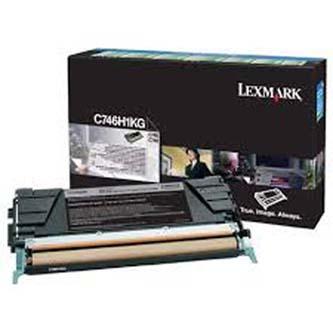 Tonerová cartridge Lexmark C746DN, C746DTN, C746N, C748DE, C748DTE, C748E, black, C746H2KG, 12000s, high capacity, O