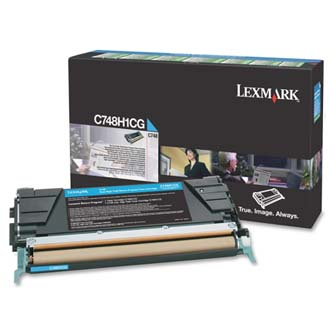 Tonerová cartridge Lexmark C748DE, C748DTE, C748E, cyan, C748H1CG, 10000s, return, high capacity, O