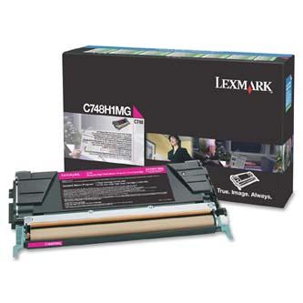 Tonerová cartridge Lexmark C748DE, C748DTE, C748E, magenta, C748H1MG, 10000s, return, high capacity, O