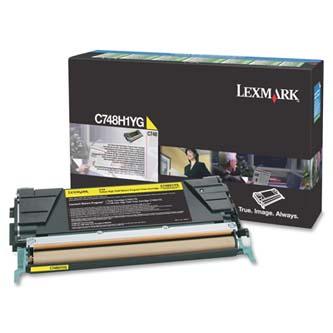 Tonerová cartridge Lexmark C748DE, C748DTE, C748E, yellow, C748H1YG, 10000s, return, high capacity, O