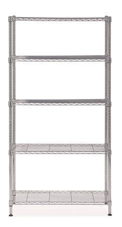Multifunkční kovové regály, 5 polic, 200x90x35 cm, ALBA