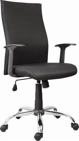 """Kancelářská židle """"TEXAS"""", černá, chromovaný kříž, čalouněná"""