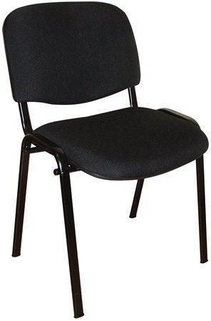 """Jednací židle """"Taurus"""", černá, černý kovový rám, čalouněná"""