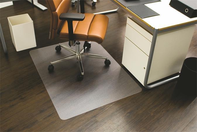 "Podložka pod židli, na tvrdé podlahové krytiny, tvar E, 120x150 cm, RS OFFICE ""Ecoblue"""