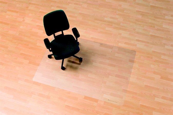 "Podložka pod židli, na tvrdé podlahové krytiny, tvar E, 75x120 cm, RS OFFICE ""Ecoblue"""