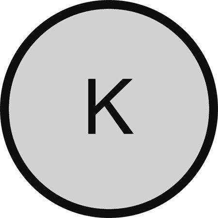 """Podložka pod židli, na tvrdé podlahové krytiny, tvar K, O 90 cm, RS OFFICE """"Ecoblue"""""""