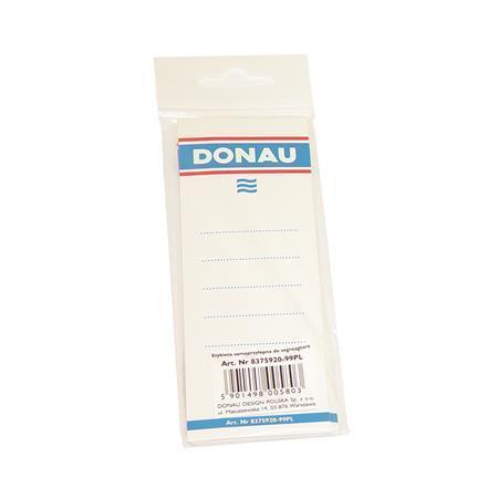 Štítek pro pákové pořadače, bílý, oboustranně popisovatelný, 54x153 mm, DONAU