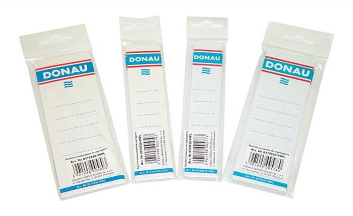 Štítek pro pákové pořadače, bílý, samolepící, 54x153 mm, DONAU