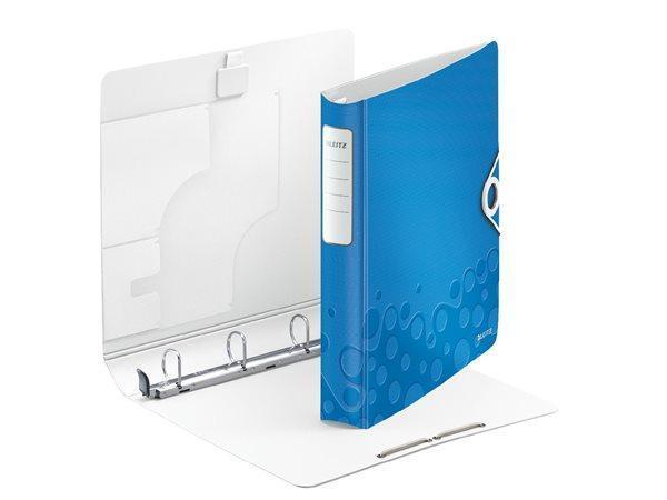 Mobilní kroužkový pořadač Leitz ACTIVE WOW, Metalická modrá