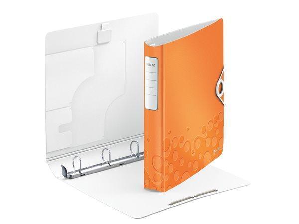 Mobilní kroužkový pořadač Leitz ACTIVE WOW, Metalická oranžová