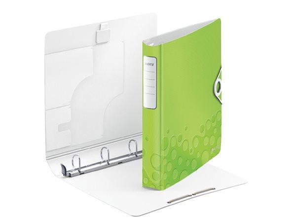 Mobilní kroužkový pořadač Leitz ACTIVE WOW, Metalická zelená