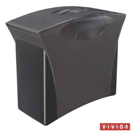 """Zásobník na závěsné desky """"Europost"""", 5 ks závěsných desek, Vivida černá, plast, ESSELTE"""