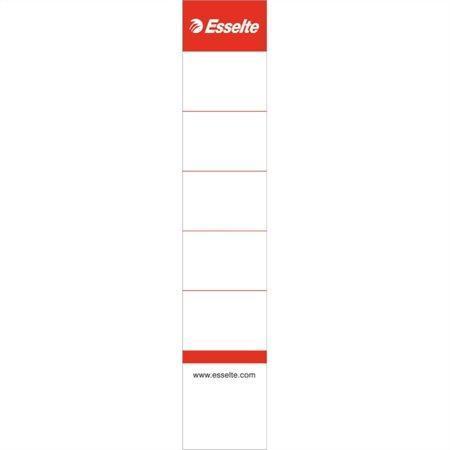 Štítky pro pákové pořadače, oboustranné, bílá, 30x158 mm, ESSELTE