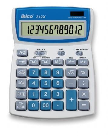 "Kalkulačka, stolní, 12místný displej, IBICO ""212X"""