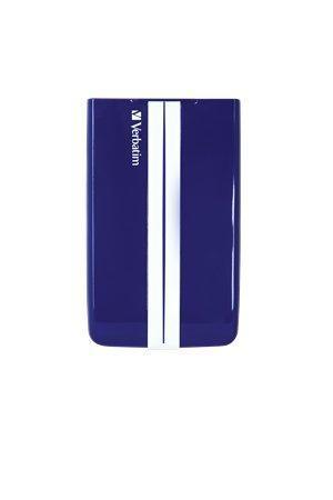"""Externí pevný disk 2,5"""" HDD GT, modré a bílé pruhy, 1TB, USB 3.0, VERBATIM"""