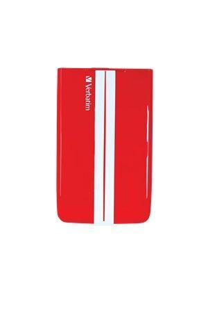 """Externí pevný disk 2,5"""" HDD GT, červené a bílé pruhy, 1TB, USB 3.0, VERBATIM"""