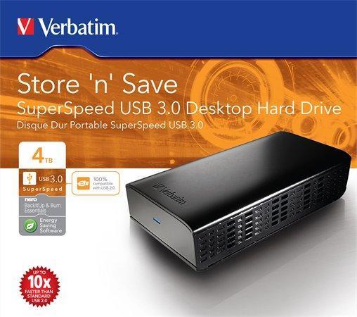 "Externí pevný disk 2,5"" HDD, 4TB, USB 3.0, VERBATIM"