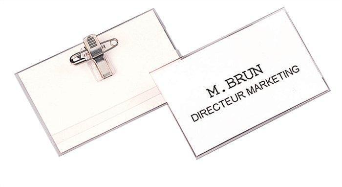 Jmenovka s klipem a špendlíkem, 60x40 mm, FELLOWES