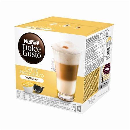 """Kapsle do kávovaru, 16 ks, NESCAFÉ """"Dolce Gusto Latte Macchiato"""", vanilla"""