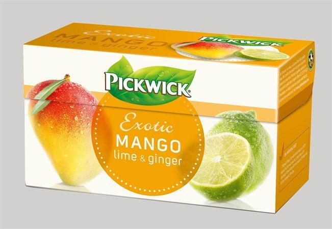 "Čaj, ovocný, 20x2 g, PICKWICK ""Exotic"" mango, zázvor, limetka"