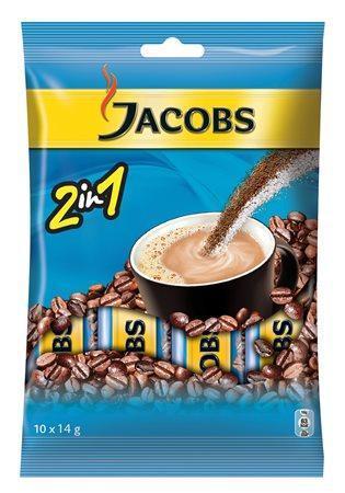 """Instantní káva, 10x14 g, JACOBS, """"2 v 1"""""""