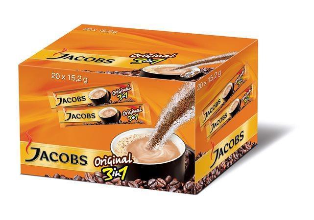 """Instantní káva, 20x15,2 g, JACOBS, """"3 v 1"""""""