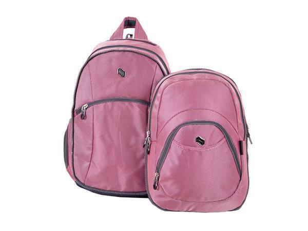 """Batoh """"Reflect"""", růžový, 2 in 1, přihrádka na notebook a audio konektor, PULSE"""
