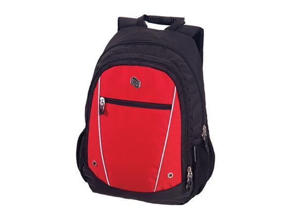 """Batoh """"Free"""", černý-červený, s přihrádkou na notebook, PULSE"""