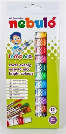 Temperové barvy, 12ks, NEBULO