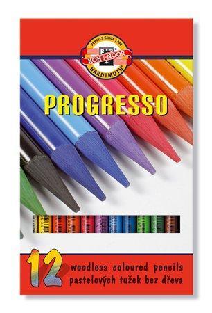 """Barevné pastelky """"Progresso 8756/12"""", 12ks, bez dřeva, KOH-I-NOOR"""