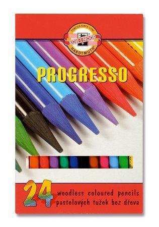 """Barevné pastelky """"Progresso 8758/24"""", 24ks, bez dřeva, KOH-I-NOOR"""