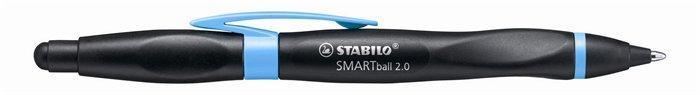 """Kuličkové pero """"Smartball 2.0"""", černá-fialová, 0,5mm, pro leváky, stiskací mechanismus, STABILO"""