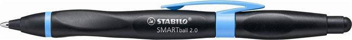 """Kuličkové pero """"Smartball"""", černá-fialová, 0,5mm, pro praváky, stiskací mechanismus, STABILO"""
