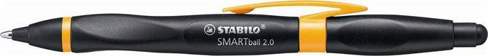 """Kuličkové pero """"Smartball 2.0"""", černá-oranžová, 0,5mm, pro praváky, stiskací mechanismus, STABILO"""