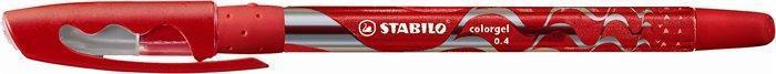 """Gelové pero """"Colorgel"""", červená, 0,4 mm, s uzávěrem, STABILO"""