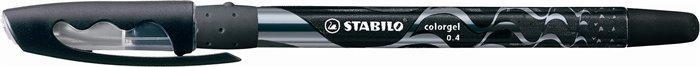 """Gelové pero """"Colorgel"""", černá, 0,4 mm, s uzávěrem, STABILO"""