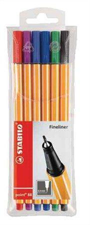 """Liner  """"Point 88"""", 6 barev, 0,4mm, STABILO"""
