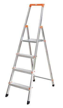 """Schůdky, 4 schody, hliníkové, KRAUSE """"Solidy"""""""